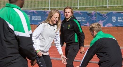 Paula Radcliffe running a Coach Core masterclasses