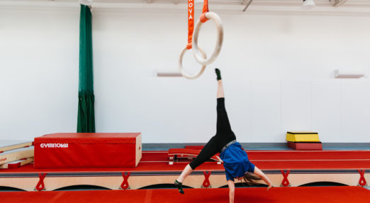 Coach Core apprentice doing cartwheel