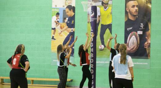 Coach Core apprentices lead a netball session