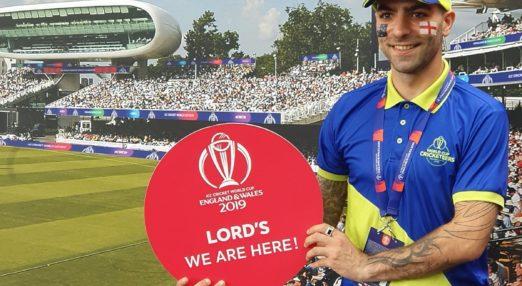 Coach Core apprentice at the Cricket World Cup