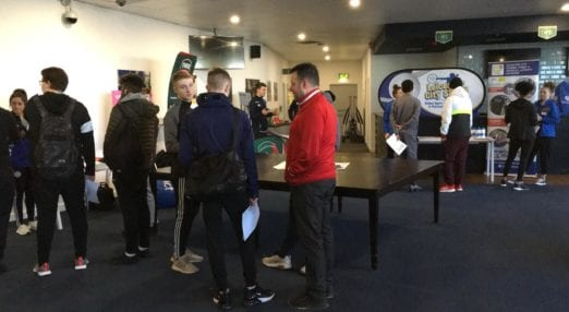 Potential Coach Core apprentices meet employers at the Leicester recruitment event